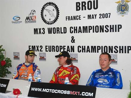 Press conference with Breugelmans, Demaria and Coisy (from left)