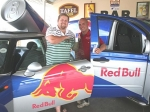 Red Bull Sales Manager Gerhardt Lamprecht (left)