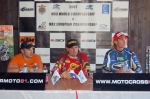Press conference with Lozano, Demaria and Kragelj (from left)