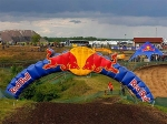 The Red Bull Gates at the Grand Prix track of Teutschenthal (GER)